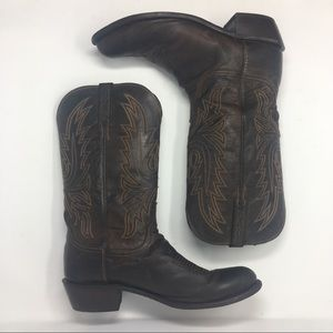 Lucchese Mens Size 10D Brown Cowboy Boots